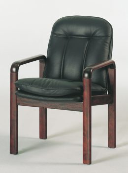 8994 executive chair w/leather black